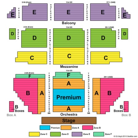 St James Theatre Seating Chart