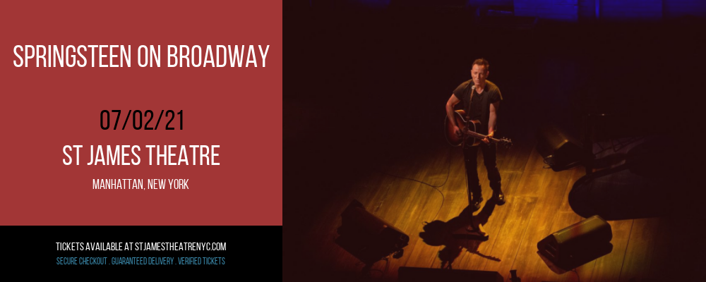 Springsteen on Broadway at St James Theatre